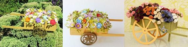Khéo tay làm chiếc xe đạp chở hoa xinh xắn 12
