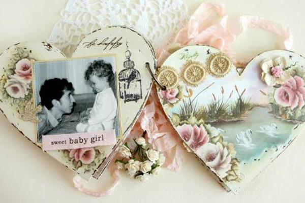 Làm album ảnh vintage hình trái tim dễ mà đẹp 1