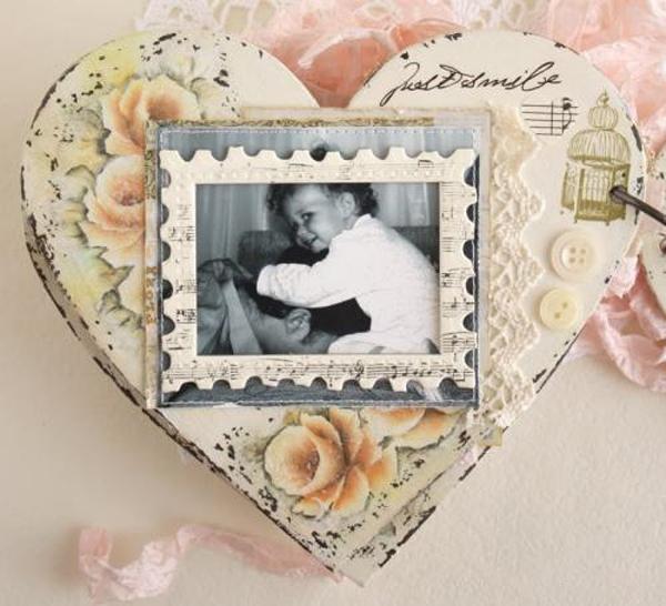 Làm album ảnh vintage hình trái tim dễ mà đẹp 8