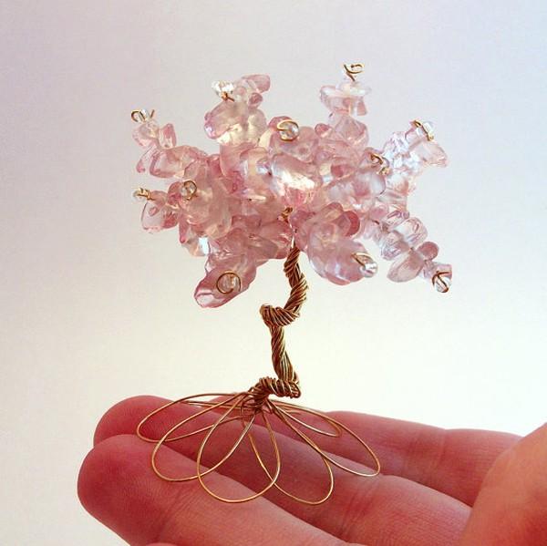 Xỏ cườm thành cây bonsai tí hon cực xinh 1