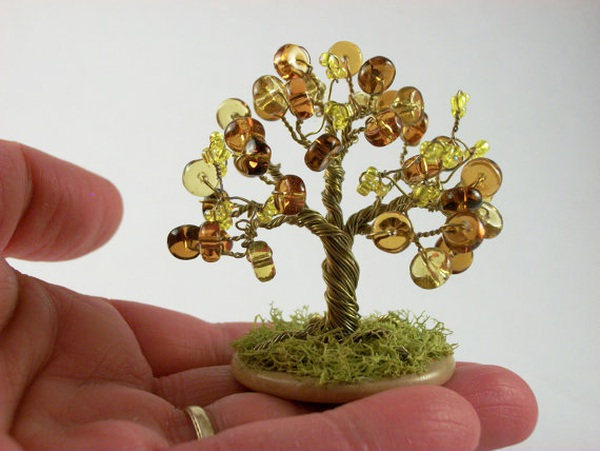 Xỏ cườm thành cây bonsai tí hon cực xinh 11