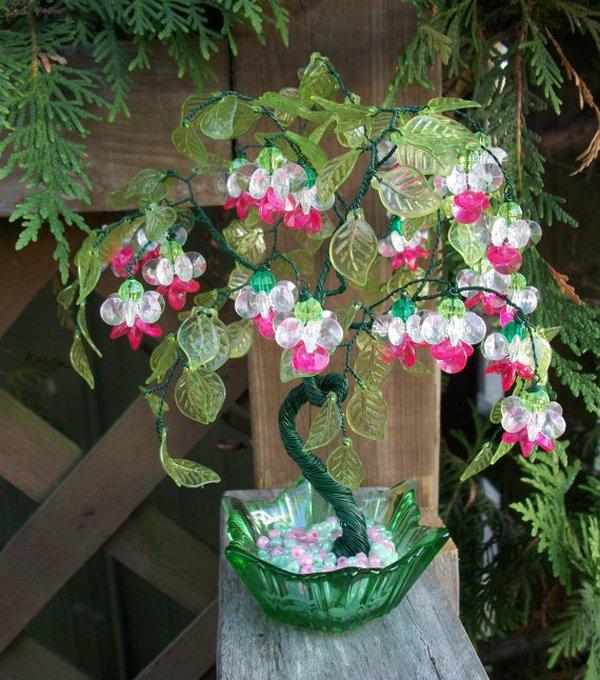 Xỏ cườm thành cây bonsai tí hon cực xinh 13
