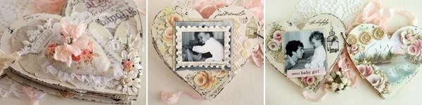 Làm album ảnh vintage hình trái tim dễ mà đẹp