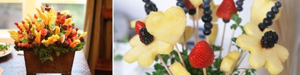 Tỉa trái cây thành lọ hoa bắt mắt, ngon miệng