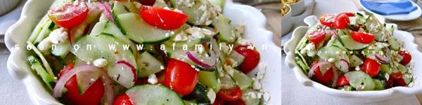 Salad cà chua dưa chuột giòn giòn mát mát