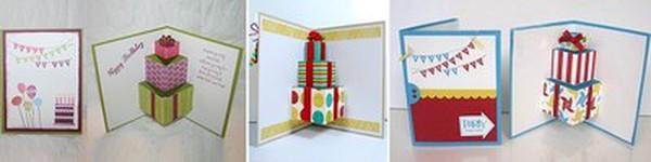 Làm thiệp sinh nhật 3D hình chiếc bánh dễ thương