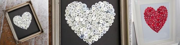 Tự chế tranh cúc áo hình trái tim siêu xinh