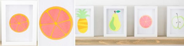 Khéo tay làm bộ tranh trái cây sắc màu trang trí nhà thêm ấn tượng