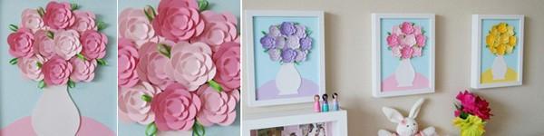 Tự chế tranh lọ hoa trang trí nhà thêm lãng mạn