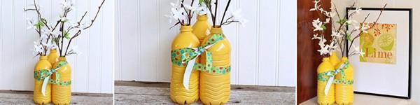 3 bước đơn giản tái chế chai nhựa thành lọ cắm hoa