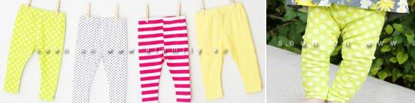 Gió mùa về, mẹ may quần legging cho bé!