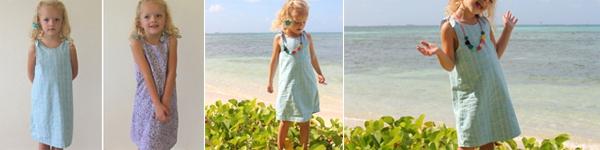 Tự may váy hai mặt đẹp ấn tượng cho bé