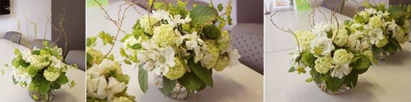 Trang trí nhà đẹp với cách cắm hoa sắc trắng xanh tinh tế