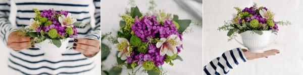 Cắm hoa trong tách trà đẹp giản dị mà tinh tế