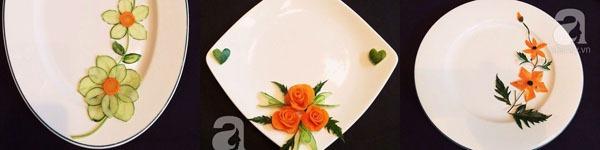 3 cách tỉa dưa chuột và cà rốt cực dễ mà đẹp