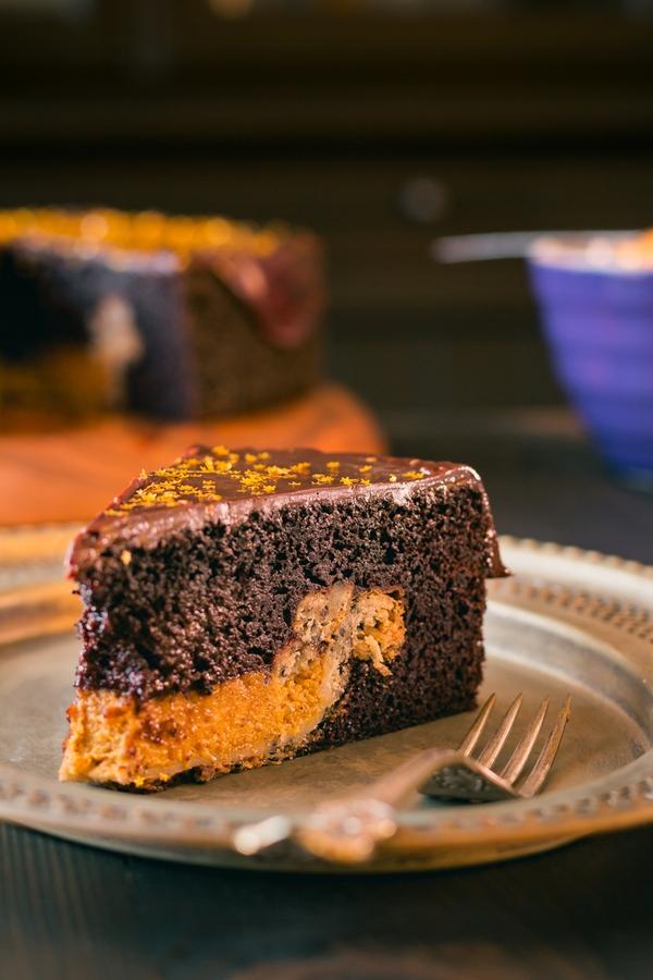 Chocolate Cake Pumpkin Pie