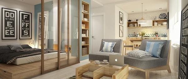 Căn hộ 38m² đơn giản nhưng hoàn hảo cho cặp đôi hiện đại
