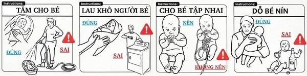 Những chỉ dẫn vô cùng hài hước về việc chăm con đúng cách