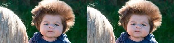 Những em bé sơ sinh với mái tóc kỳ lạ khiến ai nhìn cũng thích