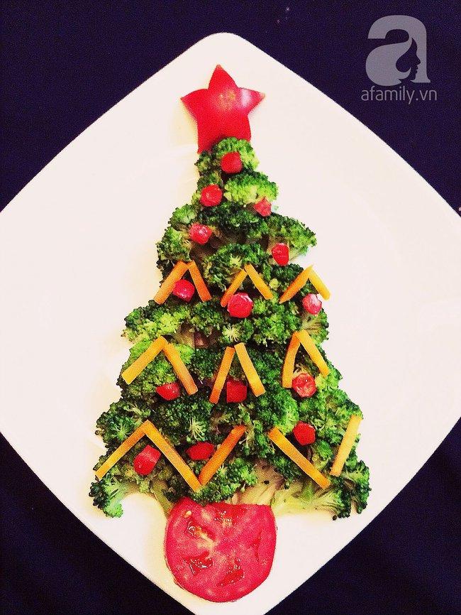6 cách bày cây thông Noel từ rau củ quả khiến bé thích mê - Ảnh 3.