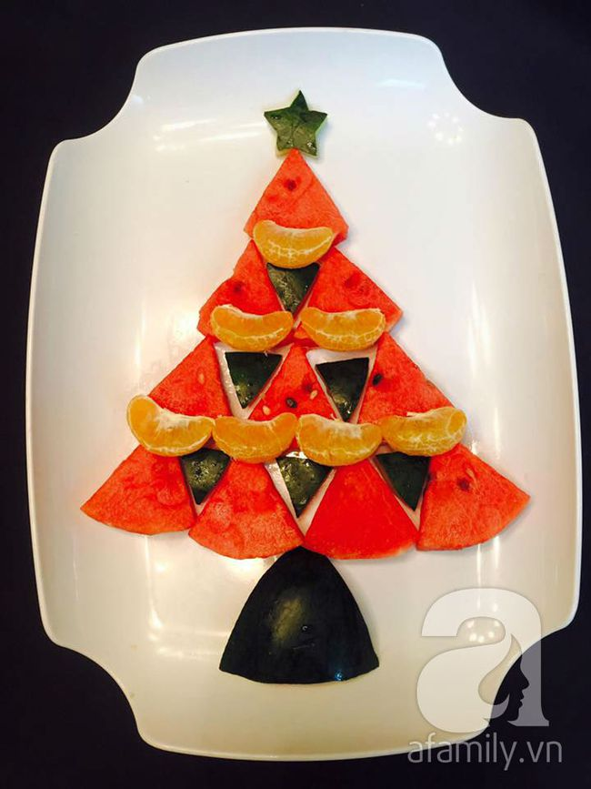 6 cách bày cây thông Noel từ rau củ quả khiến bé thích mê - Ảnh 5.