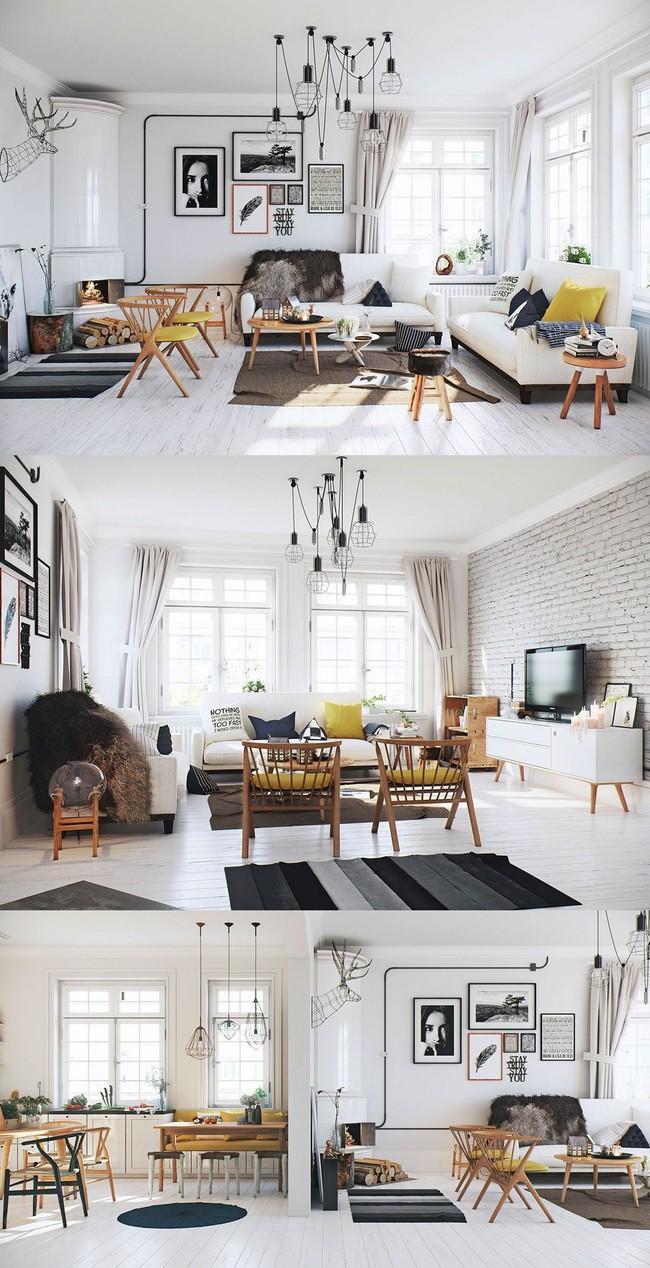 """Scandinavian đích thị là phong cách mà bạn đang tìm kiếm """"mòn mỏi"""" cho không gian phòng khách - Ảnh 3."""