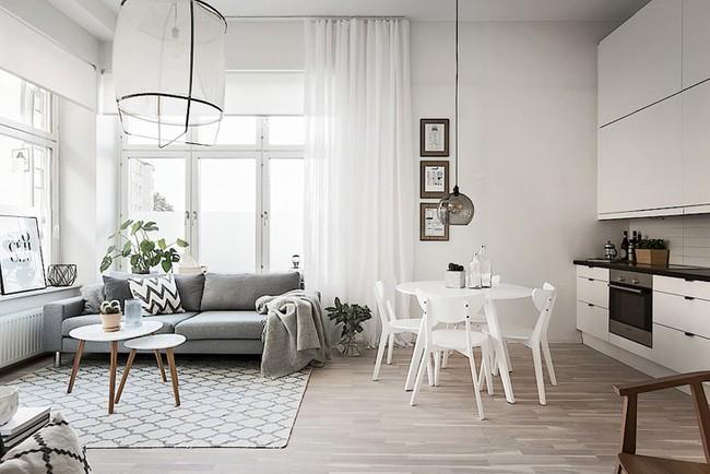 Những mẫu phòng khách đẹp phù hợp với các căn hộ 50m² - Ảnh 2.