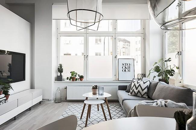Những mẫu phòng khách đẹp phù hợp với các căn hộ 50m² - Ảnh 3.