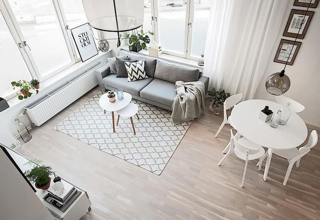 Những mẫu phòng khách đẹp phù hợp với các căn hộ 50m² - Ảnh 4.