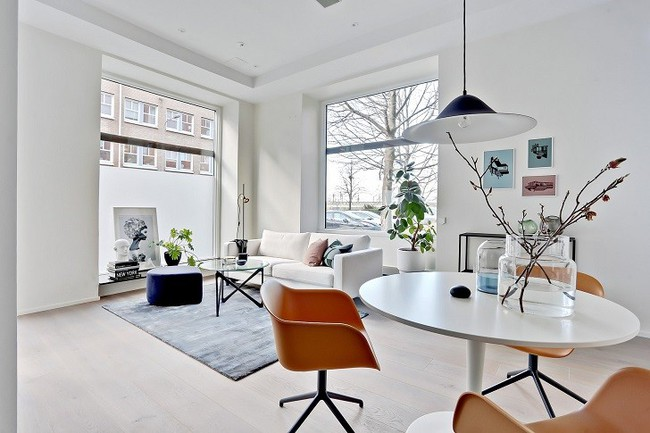 Những mẫu phòng khách đẹp phù hợp với các căn hộ 50m² - Ảnh 9.