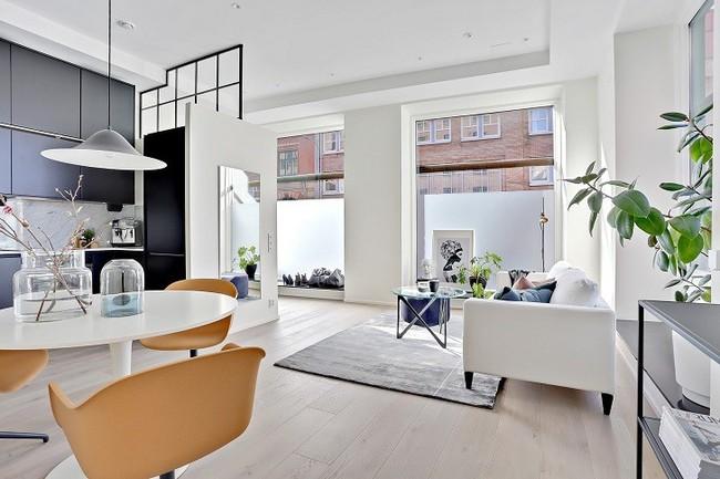 Những mẫu phòng khách đẹp phù hợp với các căn hộ 50m² - Ảnh 10.