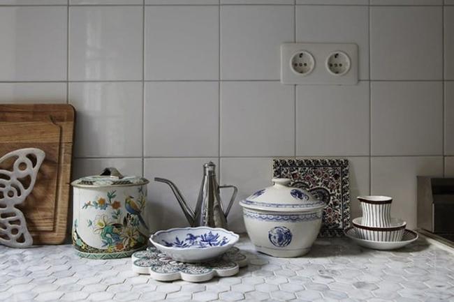 Gạch ốp đảo bếp theo phong cách retro - xu hướng trở lại của năm 2017 - Ảnh 13.