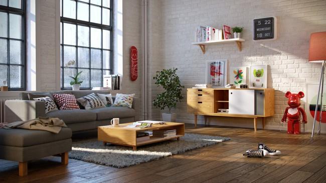 Nếu đang ở chung cư thì đây chính là mẫu phòng khách dành cho nhà bạn đấy - Ảnh 1.