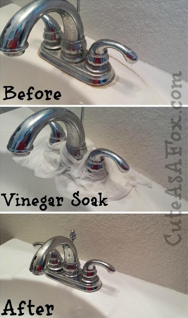 Vòi nước bỗng trắng sáng như mới mà không cần phải cọ rửa khi bạn quấn khăn giấy ngâm dung dịch này - Ảnh 2.