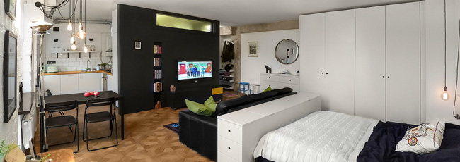 Hai căn hộ với diện tích chưa đến 40m² có thiết kế đẹp hút hồn - Ảnh 1.