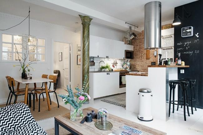 Căn hộ 47m² của cặp đôi mới cưới đẹp thanh lịch và hiện đại nhờ trang trí theo phong cách Scandinavian - Ảnh 1.
