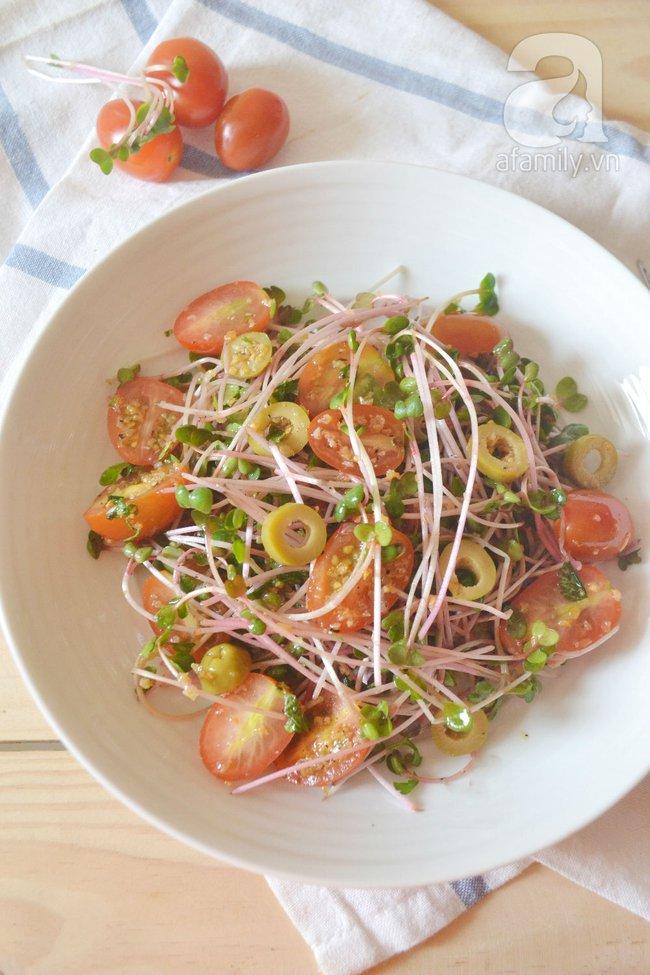 Salad rau mầm dầu giấm chống tăng cân dịp nghỉ lễ - Ảnh 9.