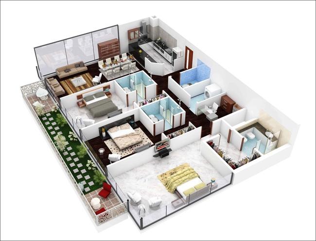 10 mẫu căn hộ 3 phòng ngủ đẹp, dễ ứng dụng cho những gia đình nhiều thế hệ cùng chung sống - Ảnh 10.