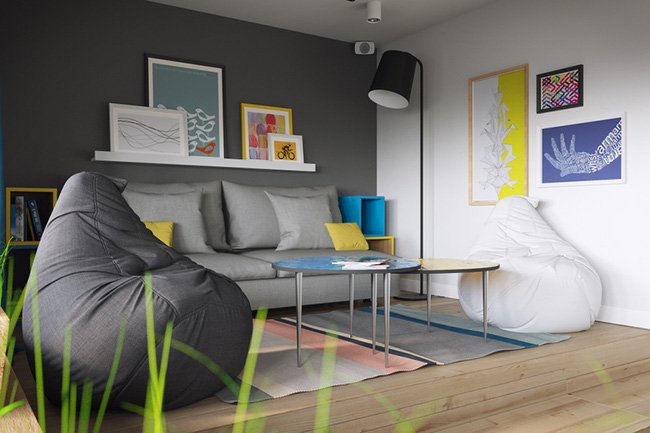 Vỏn vẹn 34m² nhưng căn hộ này minh chứng hùng hồn nhất cho việc nhà chật vẫn đẹp miễn chê - Ảnh 2.