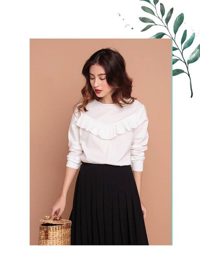 Loạt mẫu áo sơmi/blouse trơn màu giá chưa đến 500 ngàn từ thương hiệu Việt để các nàng chọn mua cho hè - Ảnh 3.