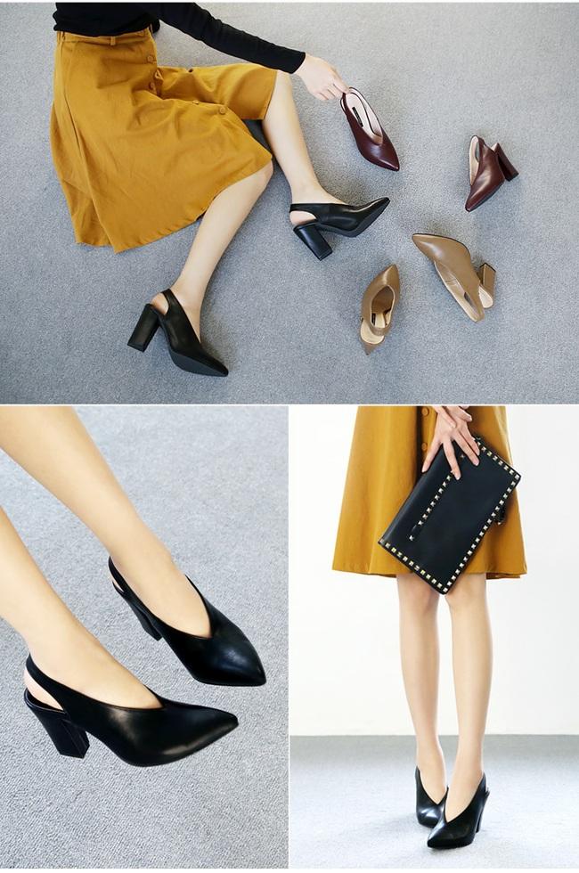 Đâu cần phải quá cầu kỳ hay sang chảnh, giày V-line đơn giản lại là thiết kế khiến nàng công sở không thể làm ngơ - Ảnh 12.