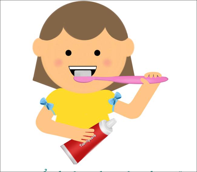 MC Minh Trang cùng con gái hướng dẫn các bé cách đánh răng cực chuẩn - Ảnh 4.