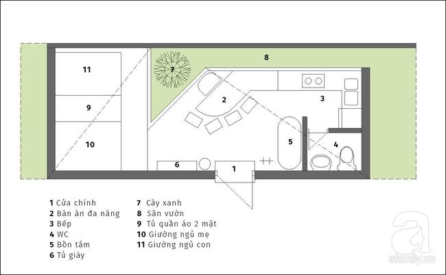 Với 250 triệu, mẹ đơn thân đã có một ngôi nhà 43m² vừa lãng mạn vừa ấm cúng cho hai mẹ con - Ảnh 1.