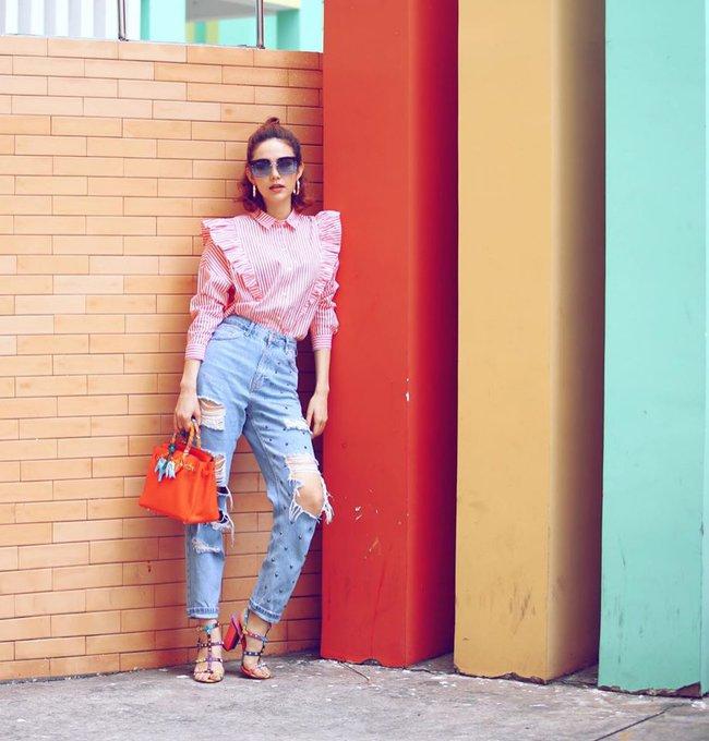 Điểm mặt 4 kiểu quần jeans đang được kiều nữ Việt kết nhất - Ảnh 11.