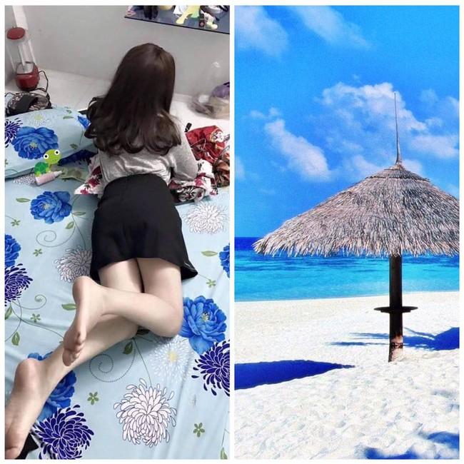 Nằm nhà tạo dáng nhờ dân mạng chỉnh ảnh đang ở bãi biển, cô nàng lại ăn quả đắng - Ảnh 11.