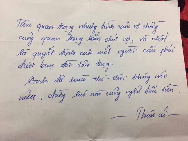 Nhận được thưởng Tết, chồng mua ngay cho vợ Iphone, còn viết cả thư tay khiến chị em xôn xao ngưỡng mộ - Ảnh 3.