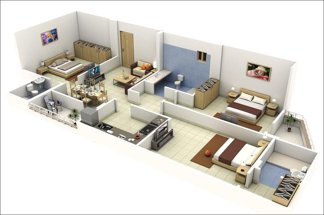 10 mẫu căn hộ 3 phòng ngủ đẹp, dễ ứng dụng cho những gia đình nhiều thế hệ cùng chung sống - Ảnh 5.