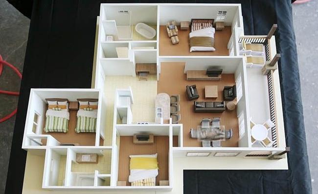 10 mẫu căn hộ 3 phòng ngủ đẹp, dễ ứng dụng cho những gia đình nhiều thế hệ cùng chung sống - Ảnh 4.