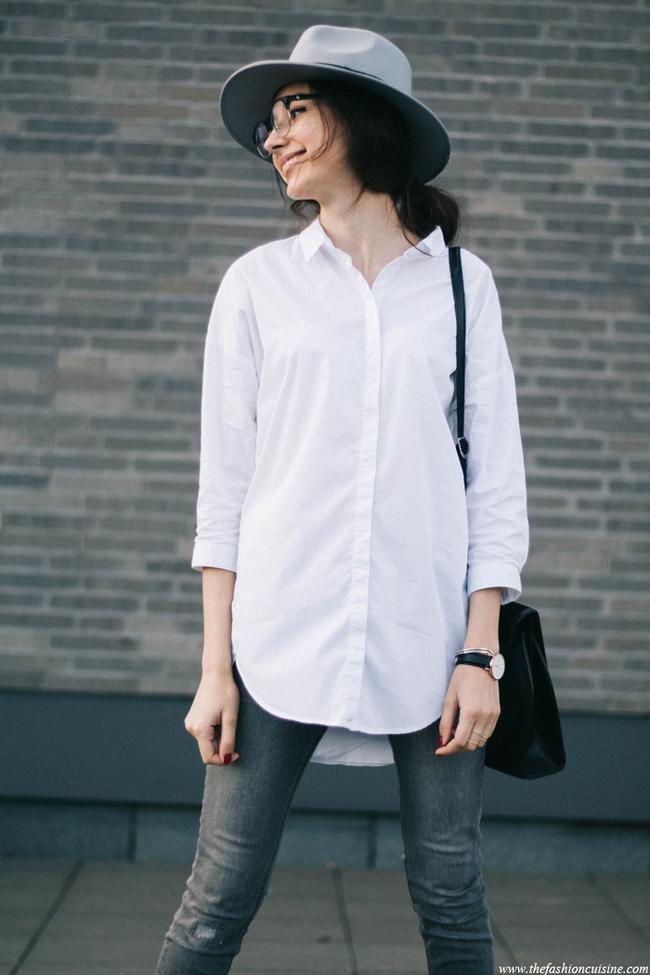 5 kiểu biến tấu giúp áo sơmi trắng chẳng còn vô vị và nhàm chán nữa - Ảnh 3.