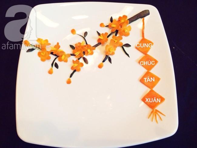Để trang trí đĩa ăn ngày Tết đừng bỏ qua cách tỉa hoa siêu đơn giản sau đây! - Ảnh 5.